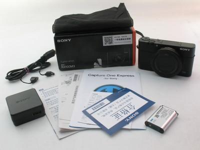 成色极好国行Sony/索尼DSC-RX100M3三代黑卡原电原充带原包装7758