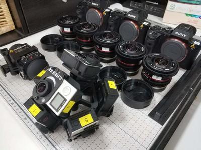 7台GoPro Hero4 Black VR拍摄设备 送防水罩  VR支架