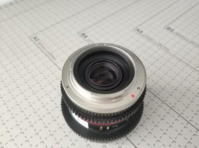三洋 8MM T3.1电影镜头 索尼卡口 无使用痕迹