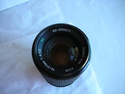 很新珠江华光70--210mm金属制造镜头,PK卡口,收藏使用