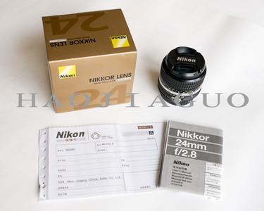 全新特价 尼康 AIS AI-S 24 2.8 经典手动镜头 尼康24/2.8