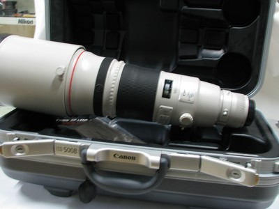 佳能 EF 500mm f/4L IS II USM二代最新款拍鸟大炮带原配箱子97新