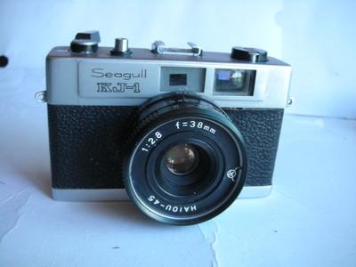 很新海鸥KJ-1金属制相机,机械快门,收藏