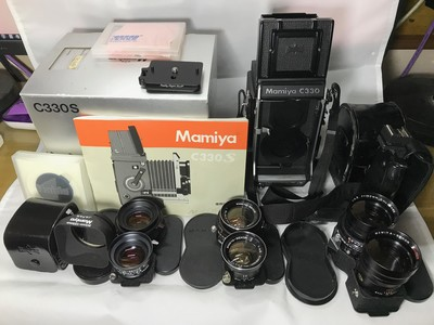 极美品Mamiya C330s 一机三镜大全套