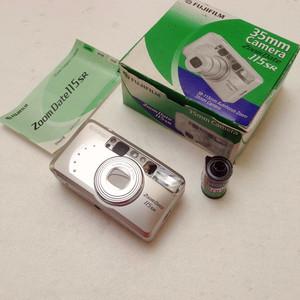 Fujifilm/富士 Zoom Date 115 SR 135胶片机胶卷旁轴相机全套99新