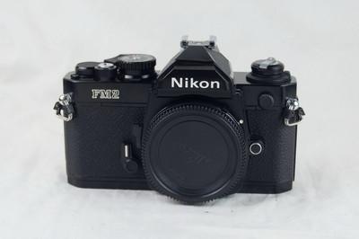尼康 Nikon FM2 黑色元祖版钛帘 带MF-16后背 收藏好成色
