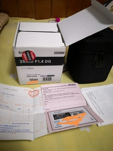 自用适马 35mm f/1.4 DG Art S35 行货 箱说发票全(尼康口)