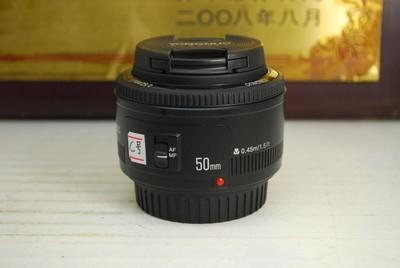 98新 佳能口 永诺 50mm F1.8 单反镜头 大光圈标头 定焦人像
