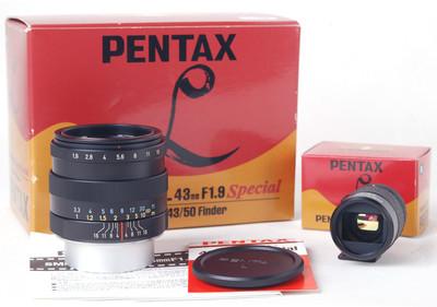 宾得SMC 43/1.9黑色Special限量版Leica LTM螺口带取景器 jp20235