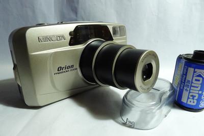 美能达Orion35-105变焦傻瓜胶片专业相机,带两次曝光,连拍,B门等