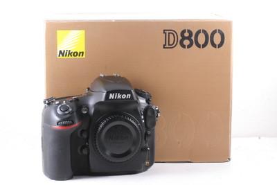 95/尼康 D800 全幅数码机 极新净(全套包装)快门数是3597次