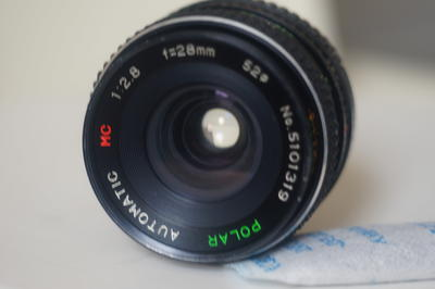 定焦手动polar波拉 28mm  f2.8 mc,微距对焦仅0.2mm,    pk口