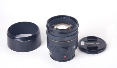 美能达 AF 85/1.4 G (22)镜头 带遮光罩 #jp20142