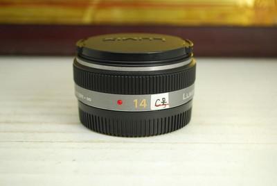 99新 松下 14mm F2.5 微单镜头 专业广角定焦 大光圈 微距 饼干头