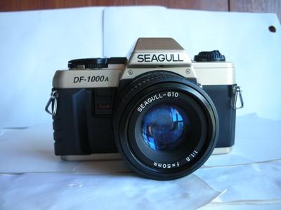 很新海鸥DF-2000单反相机带50mmf1.8镜头,收藏使用