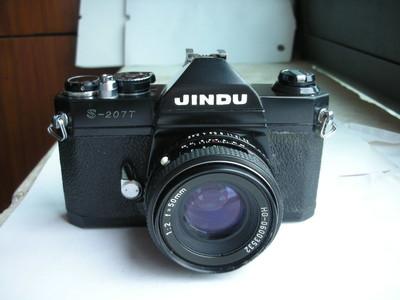 很新黑色金都S207T单反相机带50mmf2镜头,设计无测光,收藏使用