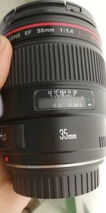 出一支成色不错的佳能 EF 35mm f/1.4L USM