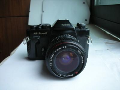 很新理光5-2型机械快门单反相机带图丽28--70mm红圈镜头