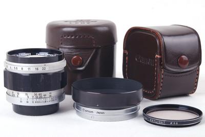 【美品】佳能50/1.4 LTM Leica L39徕卡螺口镜头带遮光罩HK7725