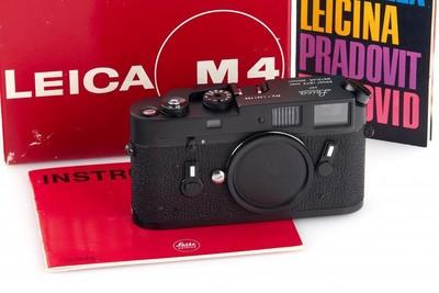徕卡 Leica M4 黑色 包装齐全 对号包装 难得好成色