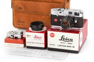 徕卡 70周年!Leica M4-P + 50/2 + MR测光表 + 罕见纪念版包!
