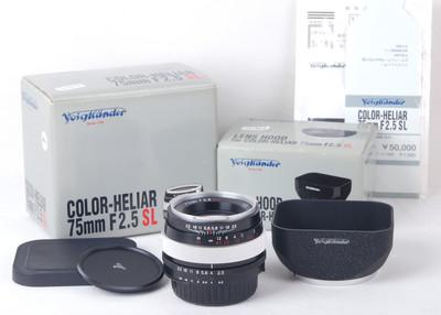 福伦达 Color-Heliar 75/2.5 SL Ai-s口#JP20366