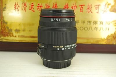 佳能口 适马 18-200 F3.5-6.3 II OS HSM 二代 单反镜头 防抖旅游