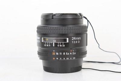 95新二手 Nikon尼康 24/2.8 D 广角定焦镜头 高价回收610394京