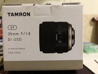 腾龙 SP 35mmF1.8 堪比适马351.4art 自用成色极新