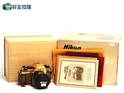 尼康/Nikon FA 镀金限量版套机 连50mm F/1.4镜头 *超美品连盒*