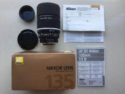 尼康135mm 1:2 DC包装配件齐全三码合一送正品MCUV