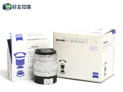 蔡司 Biogon 25mm F/2.8 ZM T* 广角定焦镜 银色 徕卡M口*98新*