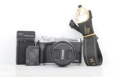 96新二手佳能 M6套(15-45)套机微单相机回收008404 029135京