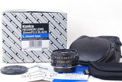 柯尼卡UC-Hexanon 35/2 Leica LTM口黑色限量版jp20601