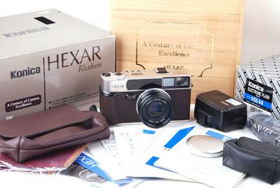 【美品】柯尼卡hexar带35/2镜头Rhodium铑金版带包装jp20637