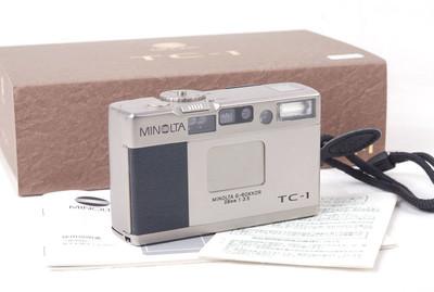 美能达TC-1 28/3.5香槟色胶片相机带手绳对号包装jp20631