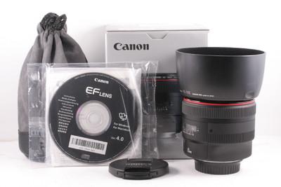 99/佳能 EF 85mm f/1.2 L II USM 极新净 (全套包装齐) 编号:UZ