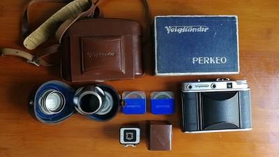 收藏级别的福伦达PERKEO E折叠皮腔相机
