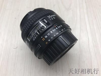 《天津天好》相机行 99新 尼康AF 35/2D 镜头