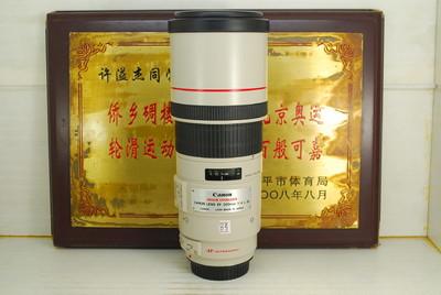 99新 佳能 300mm F4L IS 超远定焦 单反镜头 专业红圈 防抖 远摄