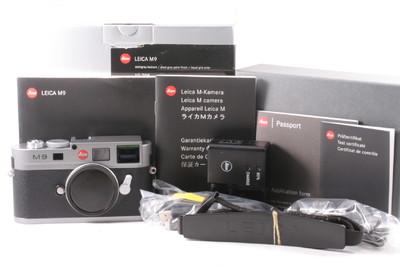徕卡 M9 全画幅数码相机 钢灰色 CCD已更换全套包装 快门数2558