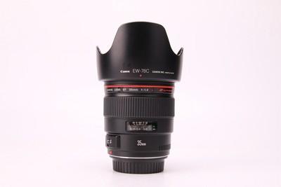 96新二手Canon佳能 35/1.4 L 定焦镜头 高价回收 95385津