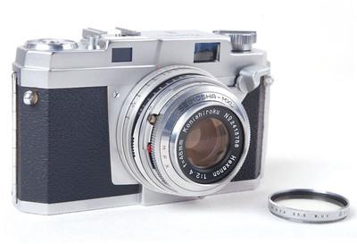 Konica柯尼卡III带HEXANON 48/2.4镜头银色套机jp20645