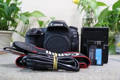 96新二手 Canon佳能 80D 单机 专业单反相机 高价回收 006147武