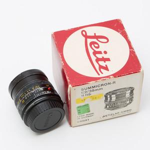 Leica徕卡R 35/2 E55版 莱卡R口 配徕卡R转佳能EF转接环80新#3286