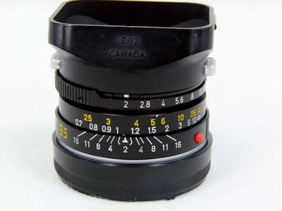 华瑞摄影器材-徕卡 Summicron  M 35/2 黑色八枚玉