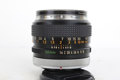 90新二手Canon佳能 50 1.4 FD 手动镜头 186581京