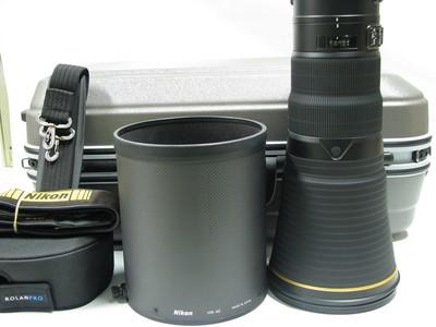 新款尼康 AF-S 600mm f/4E FL ED VR大炮98-99新带箱子