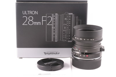 100/福伦达 Ultron 28mm f/2 黑色 带遮光罩( 全套包装 ) 徕卡口