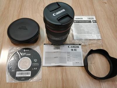 98新佳能 EF 24-70mm f/2.8L II USM箱说全,原装配件